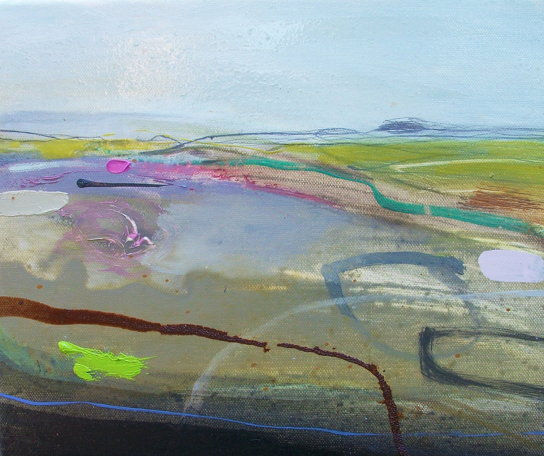 Distant Fields, oil & pencil, 30x25cm £175