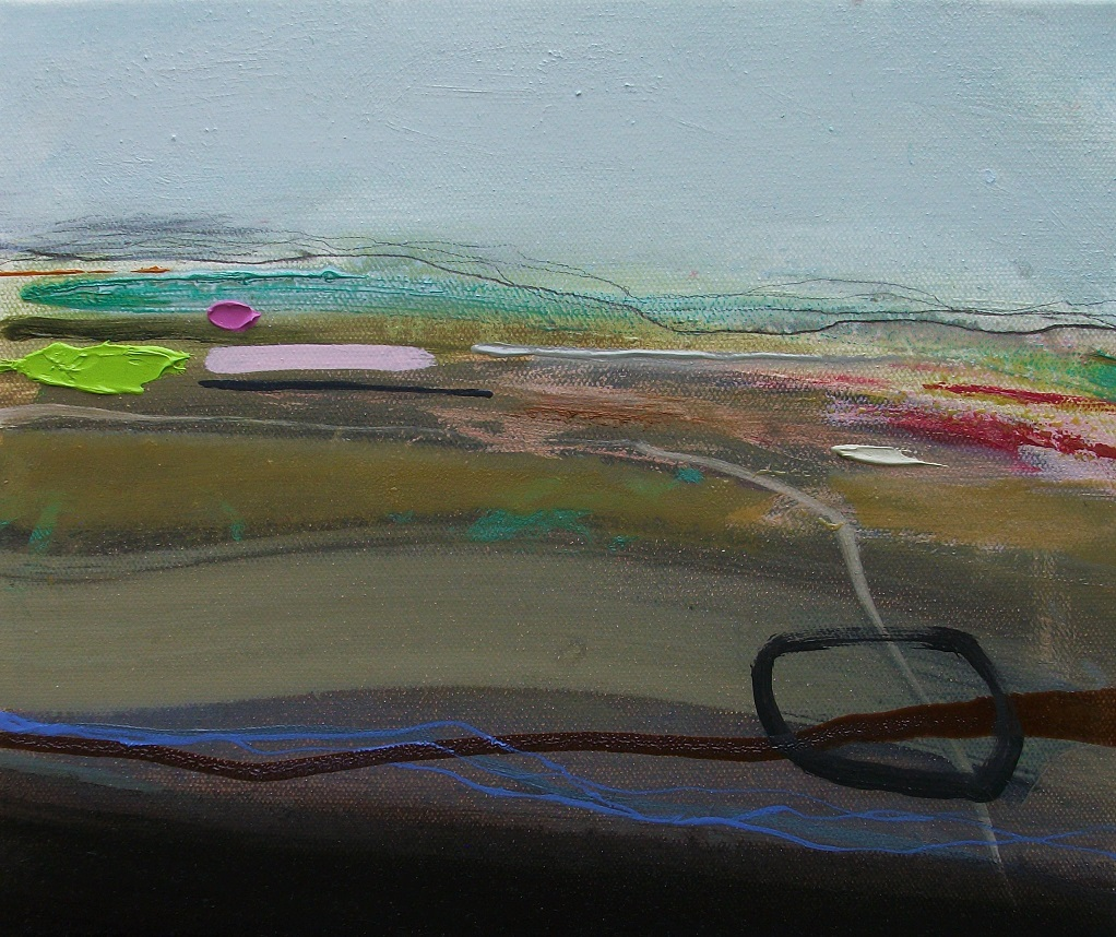 Distant Moors, oil & pencil, 30x25cm £175