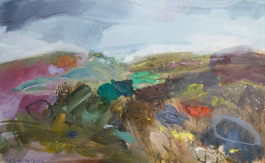 Spring Wind Blowing, oil, 40x65cm, framed £375