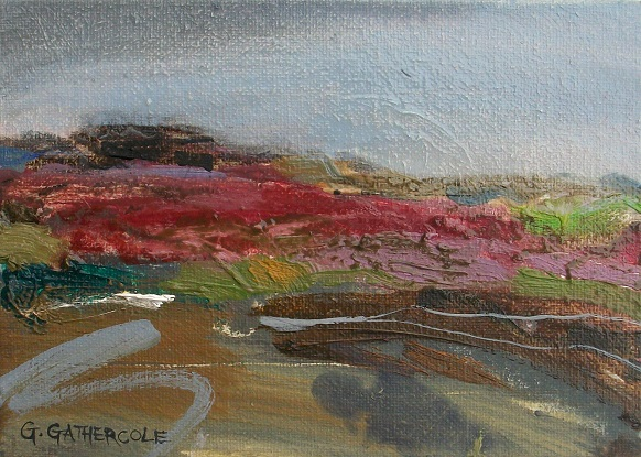 "Still Summer Air, oil, 5x7"" £130"