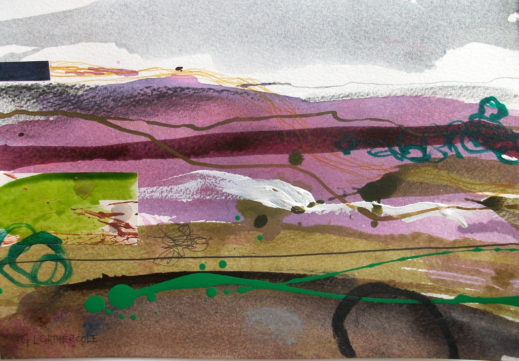 Wild Heather I, mixed media, 17x28cm £125