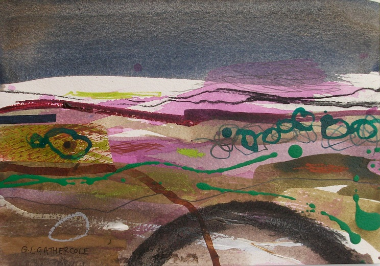 Wild Heather V, mixed media, 17x28cm £125