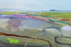 Distant Fields, oil & pencil, 30x25cm