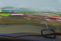 Distant Moors, oil & pencil, 30x25cm £175