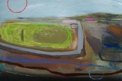 Enclosed, oil&pencil, 61x45.5cm