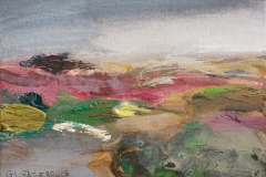 "Misty Heather Moors, oil, 5x7"" £130"