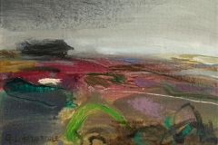 "Moorland in Summer, oil, 5x7"" £130"