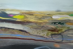 Over the Moors and Far Away, oil & pencil, 30x40cm