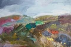 Spring Wind Blowing, oil, 40x65cm, framed £375
