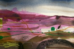 Summer Heather 4, mixed media 15x34cm £110