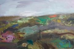 Wind & Rain, oil, 40x65cm, framed £400