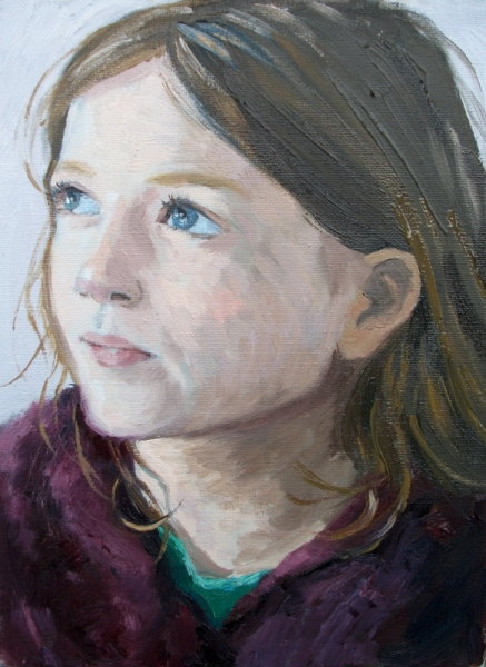 'Portrait of Bea' oil