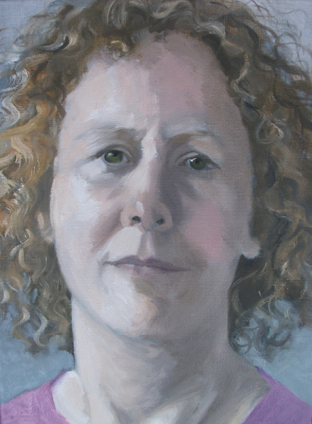 'Portrait of Jo' oil