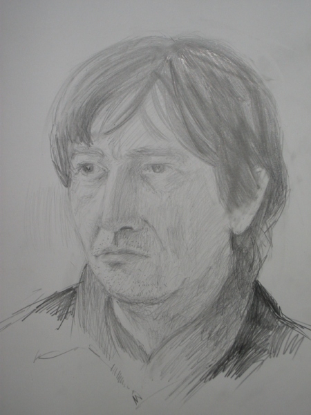'Portrait of Tim', pencil
