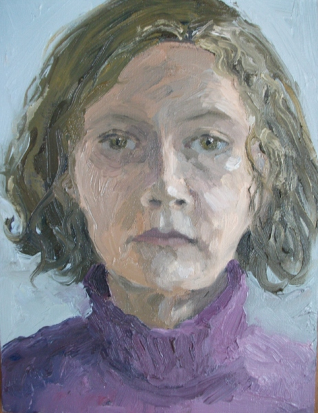 'Self portrait', oil