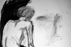 'Female nude', charcoal, 84x59cm