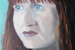 'Portrait of Fiona' oil