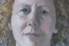 'Portrait of Jo' oil