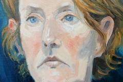 'Portrait of Miriam', oil