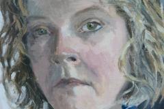 'Self portrait', oil