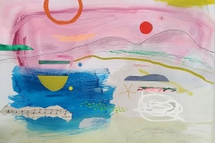 'Evening Pink Sky'  mixed media 30x42cm £250