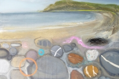 Pebbles on the Beach, 45x60cm, oil £350