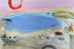 Pink Sky, oil, pencil & pastel, 51x76 cm