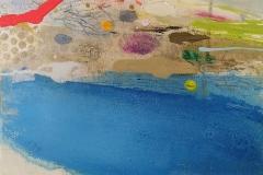 'Rockpool i' oil, pencil & pastel 25x30cm £250