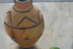 'African Pot & Lime', oil, 40x30cm £195
