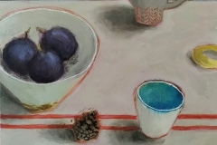 'Coffee cup & Figs' oil' 25x30cm