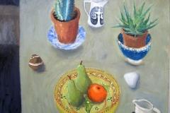 'Still Life with Cactus', oil, 85x70cm £625