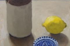 'Jug, Lemon & Bowl' oil, 40x30cm SOLD