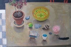 'Still life with Aeonium' oil, 81x102cm £750