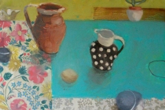 'Summer Still Life' 60x60cm oil, £420