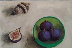 'Turkish Figs & Shell' oil 25x30cm